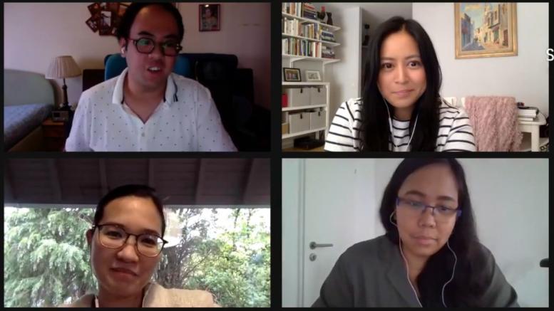 Snapshot der Videokonferenz mit 4 TeilnehmerInnen