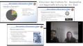 Folien und Screenshot der Onlinepräsentation